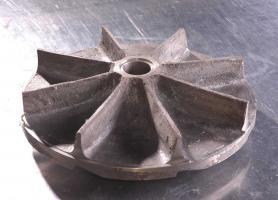 Fabricación de impulsores o impelentes, para bombas de lodos, aleación cromo para antiabrasividad